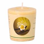 100% palmivahast valmistatud naturaalselt lõhnastatud küünal klaasis. Muladhara tšakra 1– elujõud, edu äris ja finantsasjades
