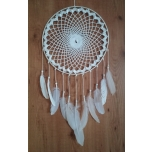 Handmade dream catcher with rock crystal 35cm