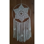 Handmade dream catcher with rock crystal 40cm